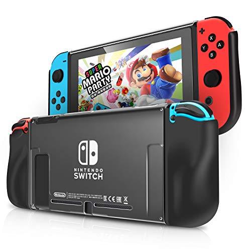 Nintendo Switch ハードケース KINGTOP ニンテンドー スイッチ 専用カバー 任天堂スイッチ Joy-Con コントローラー用 保護ケース PC クリア 衝撃吸収 キズ防止