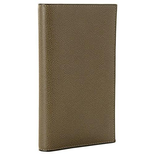 Valextra(ヴァレクストラ) 財布 メンズ グレインレザー 2つ折り長財布 グレーカーキ V8L15-028-00AL[並行輸入品]