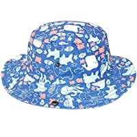 d31bf5aa057 Baby Bucket Hat Soft Cotton Sun Protection Fishman Cap with Chin Strap  Ocean Fun