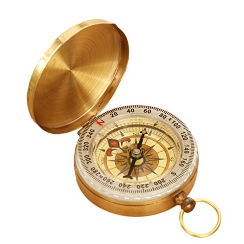 Zafina フリップオープン 羅針盤 蓄光コンパス 折り畳み式 方向指示 羅針盤 方位磁石