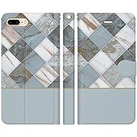 iPhone8Plus iPhone7Plus 手帳型 ケース カバー 大理石 アーガイル ブルー かわいい レディース 大理石柄 マーブル模様 マーブルストーン 大理石模様 グラデーション パステルカラー