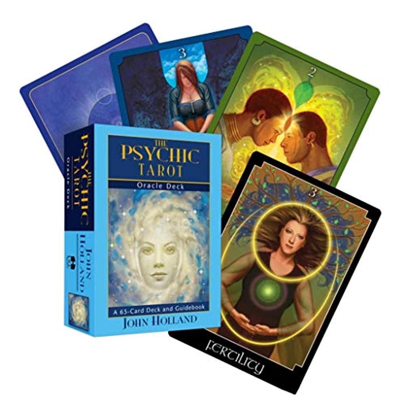 盟主消去コテージManyao(The Psychic Tarot)65枚タロットカードデッキとガイドブック運命の占い、フルイングリッシュボードゲーム、オラクルのトランプ