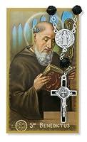 自動ロザリオ–St。Benedict自動ロザリオ& Prayerカードセット。