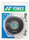 ヨネックス(YONEX) テニス バドミントン グリップテープ ウェットスーパーグリップ ケース付き (5本入り) AC1025P ブラック