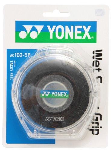 ヨネックス(YONEX) テニス バドミント グリップテープ ウェットスーパーグリップ(5本入) ブラック AC102-5P