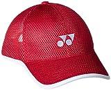 (ヨネックス)YONEX テニス メッシュキャップ 40042 [ユニセックス] 001 レッド フリーサイズ
