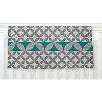 KESS InHouse Nick Atkinson Diamond Turquoise Fleece Baby Blanket 40 x 30 [並行輸入品]