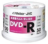 ビクター データ用DVD-R 16倍速 4.7GB ワイドホワイトプリンタブル 50枚 VD-R47TAT50