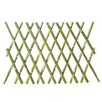 JIANFEI 木製 ボーダーフェンスフラワーベッドエッジ アニマルガードレール 天然竹 防水 長さは伸ばすことができます 、6つのサイズ (Color : Green, Size : 60x180cm)
