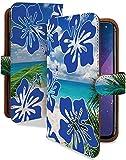 ZenFone3 ZE520KL ケース 手帳型 ハイビスカス オーシャン 花柄 海 スマホケース ゼンフォン3 ゼンフォンスリー ゼンホン 手帳 カバー ZenFone 3 ze520klケース ze520klカバー 花 フラワー ハイビスカス柄 [ハイビスカス オーシャン/t0537c]