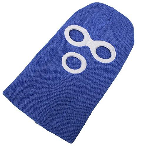 フェイスマスク(目だし帽 ニット帽) デストロイヤー サックスブルー