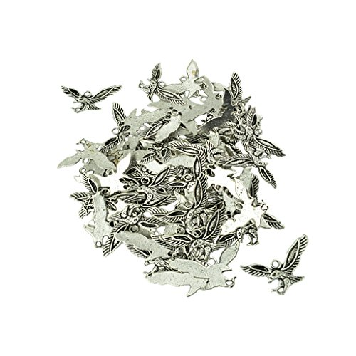 [해외]Lovoski 펜던트 매 형상 비행 스타일 매력 보석 DIY 티벳은 약 50 개들이/Lovoski pendant hawk shape flying style charm jewelry DIY Tibet silver about 50 pieces