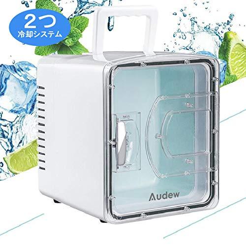 AUDEW 冷温庫 二つ冷却システム 家庭 車載両用 ミニ冷蔵庫  2電源式...