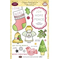 """JustRite Papercraft Clear Stamp Set 6""""X8""""-Christmas Stitched W/Love 25pc (並行輸入品)"""