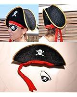 ハロウィン 海賊 パイレーツ オブ カリビアン 風 ハット 帽子 海賊ハット 海賊帽子 眼帯 アイピース ハロウィーン ハロウイン パーティー 仮装 変装 ハロウィン 楽しく大変身 盛り上げてくれること間違いなし♪