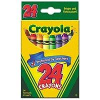 クラシックカラーパックCrayons , Wax , 24色perボックス