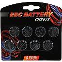 8パックEBC cr2032バッテリー220mAh 3ボルトリチウム電池コインボタンセル有効期限2020
