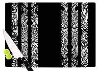 KESS InHouse Maria Bazarova Lines Vector Art Deco Cutting Board 11.5 x 15.75 Multicolor [並行輸入品]