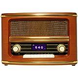 RSR100 レトロテーブルトップ Bluetoothスピーカー&AM/FMラジオ Wolverine社【並行輸入】