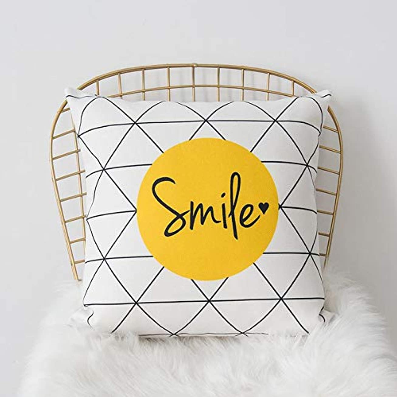 スキップ弾薬令状LIFE 黄色グレー枕北欧スタイル黄色ヘラジカ幾何枕リビングルームのインテリアソファクッション Cojines 装飾良質 クッション 椅子