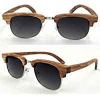 Hzjundasi Personal ユニセックス Glasses Bamboo Zebra Wooden Anti-UV Polarized サングラス Goggles