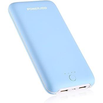 Poweradd Pilot X8 Plus モバイルバッテリー 20000mAh 2ポート 大容量 手触り良い iPhone/iPad/Galaxy/Xperia/Nexus/PSvita/タブレット/ゲーム機等 iPhoneとAndroid機器対応(ブルー)