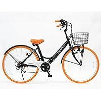 GRAPHIS(グラフィス) 折りたたみ 自転車 シティサイクル 26インチ シマノ製6段ギア GR-CITY