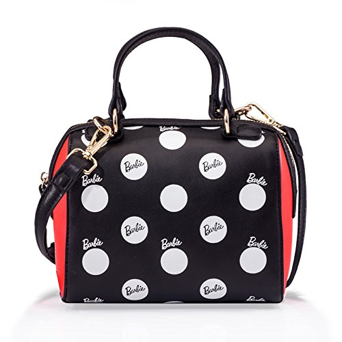 [해외]Barbie 바비 모던 시리즈 고급 PU 가죽 물방울 핸드백 어깨 가방 여성 가방/Barbie Barbie Modern Series Luxury PU Leather Polka Dot Handbag Shoulder Bag Womens Bag