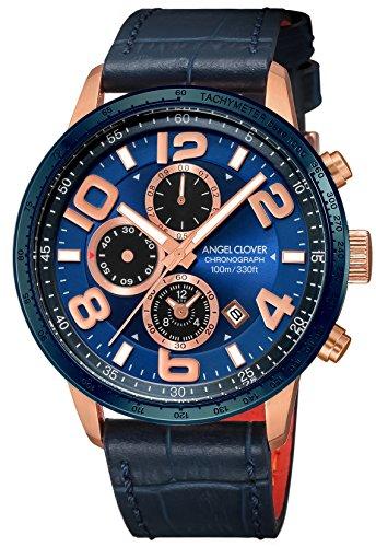 エンジェルクローバーAngel Clover 腕時計 LUCE ネイビー文字盤 60分計クロノグラフ/セラミックベゼル LU44PNV-NV メンズ
