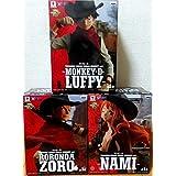 ONE PIECE ワンピースフィギュア TREASURE CRUISE WORLD JOURNEY vol.1 ルフィ、ゾロ、ナミ3体セット