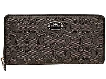 [コーチ] COACH 財布(長財布) F53539 ブラックスモーク×ブラック アウトライン シグネチャー アコーディオン ジップ アラウンド レディース [アウトレット品] [ブランド] [並行輸入品]