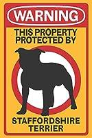 Staffordshire Terrier–警告 16 x 24 Giclee Print LANT-85192-16x24