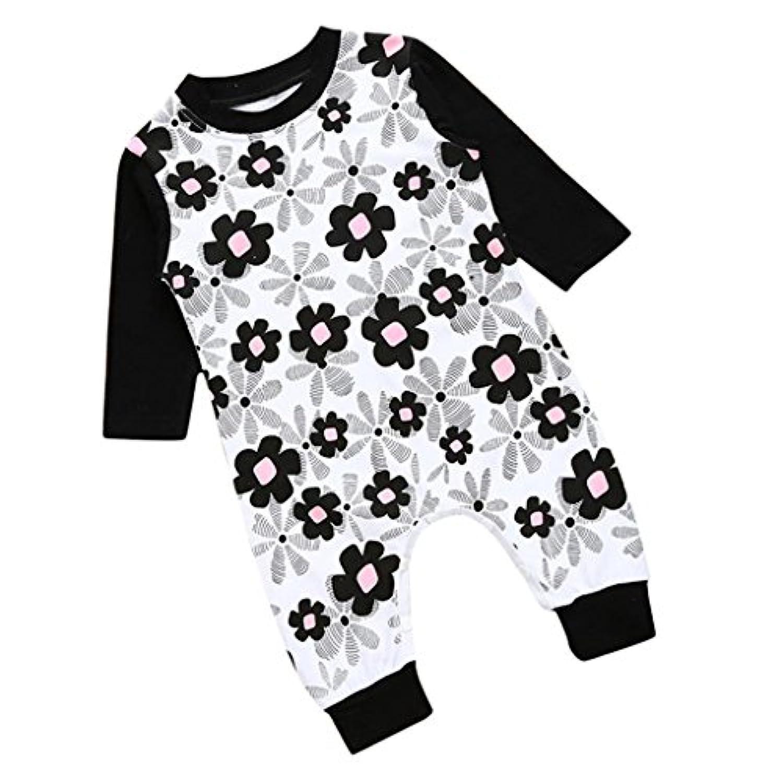 全4サイズ キッズ 幼児服 コットン ジャンプスーツ ロンパース ボディースーツ