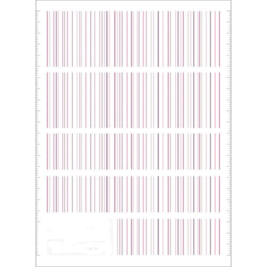 熟す去るストリームツメキラ(TSUMEKIRA) ネイル用シール ピンストライプ ピンク NN-PIN-104
