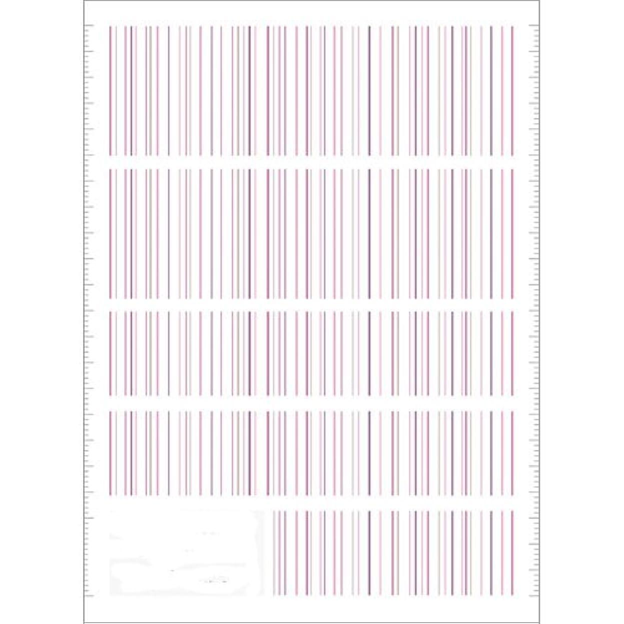 ログ市民権ペックツメキラ(TSUMEKIRA) ネイル用シール ピンストライプ ピンク NN-PIN-104