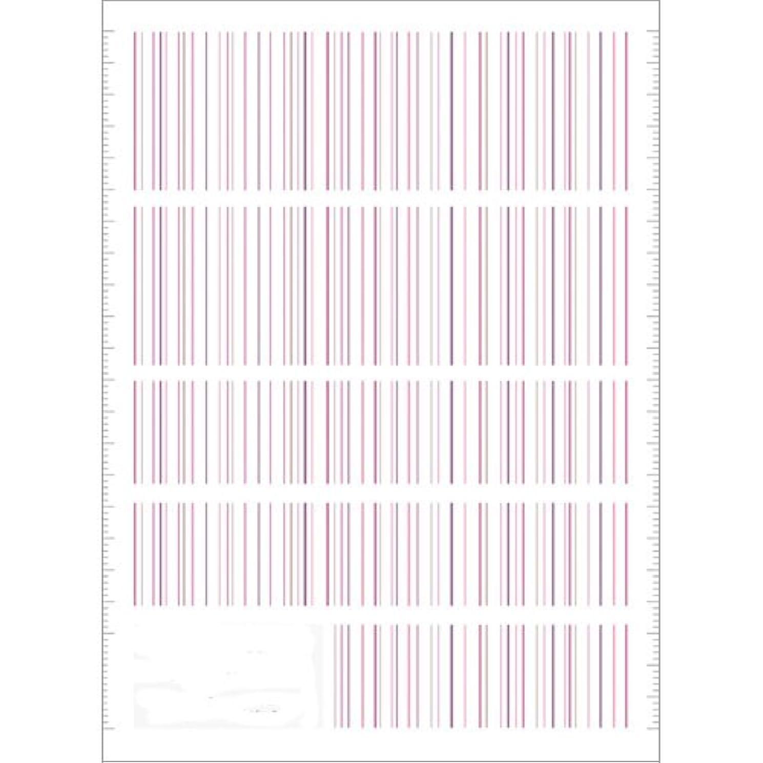 暫定のほこり神秘的なツメキラ(TSUMEKIRA) ネイル用シール ピンストライプ ピンク NN-PIN-104