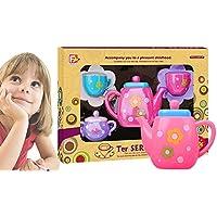 RaiFu ままごと おもちゃ 子供たち 古典的 おもちゃ 繊細 スポットティー ポット セット 子供 キッチン 教育おもちゃ