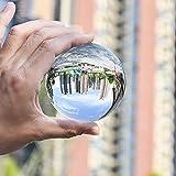 Tensphy レンズボール スタンド付きK9クリスタルボール 2019年最新 透明水晶球 撮影 インテリア 開運グッズ 装飾置物 話題の水晶玉撮影 女性向けプレゼント 拭き取り布 収納・携帯用袋付き100mm 画像