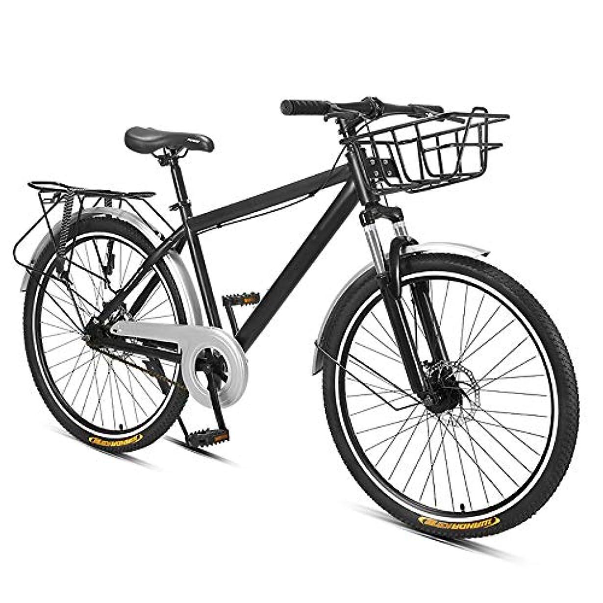 シガレット手順杭26インチマウンテンバイクオフロードダブルショックアブソーバーディスクブレーキ自転車ベルとケトルラックが男性と女性の大人に使用