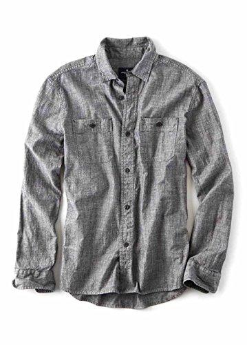 【アメリカンイーグル】 AMERICAN EAGLE デニムワークウエアシャツ AEO Denim Workwear Shirt 【並行輸入品】 PFARARA
