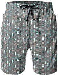 メンズ 水着緑矢印 男性スポツパンツビーチパンツ 通気速乾