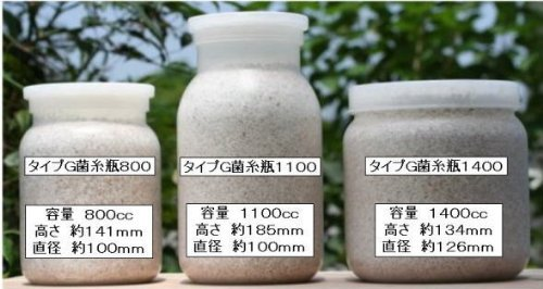 タイプG菌糸瓶(菌糸ビン)1100