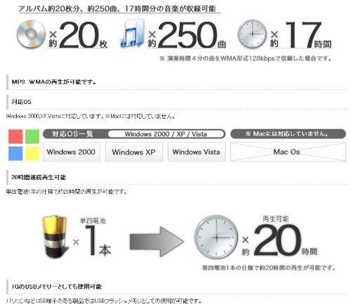 デジタルオーディオプレーヤー MP-T1GB