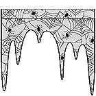 の灰のための骨壷 107x105cmハロウィーンスパイダー蜘蛛の巣柄の装飾暖炉の布テーブルクロス - ブラック、カラー:ブラック ペットの灰 (Color : Black)