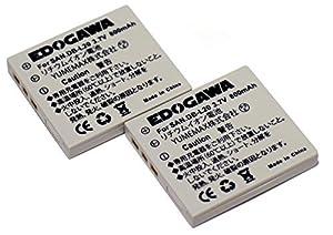 2個セット SANYO DB-L20対応バッテリーサンヨー Xacti DMX-CA9/CA8/DSC-E6/J4/C1等【EDOGAWA】 保障付(2XJN-BAT)