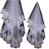 Amazon.co.jpウエディング ベール ( 純白 1.5M )( 花嫁 結婚式 ウエディングドレス ブライダル レース アクセサリー )