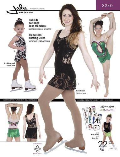 Jalie Sleeveless Skating Dress Dance Gymnastics Costume Sewing Pattern 3240 by Jalie