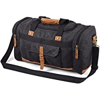 Plambag 50L Canvas Luggage Duffel Bag Travel Tote Shoulder Bag(Dark Gray)