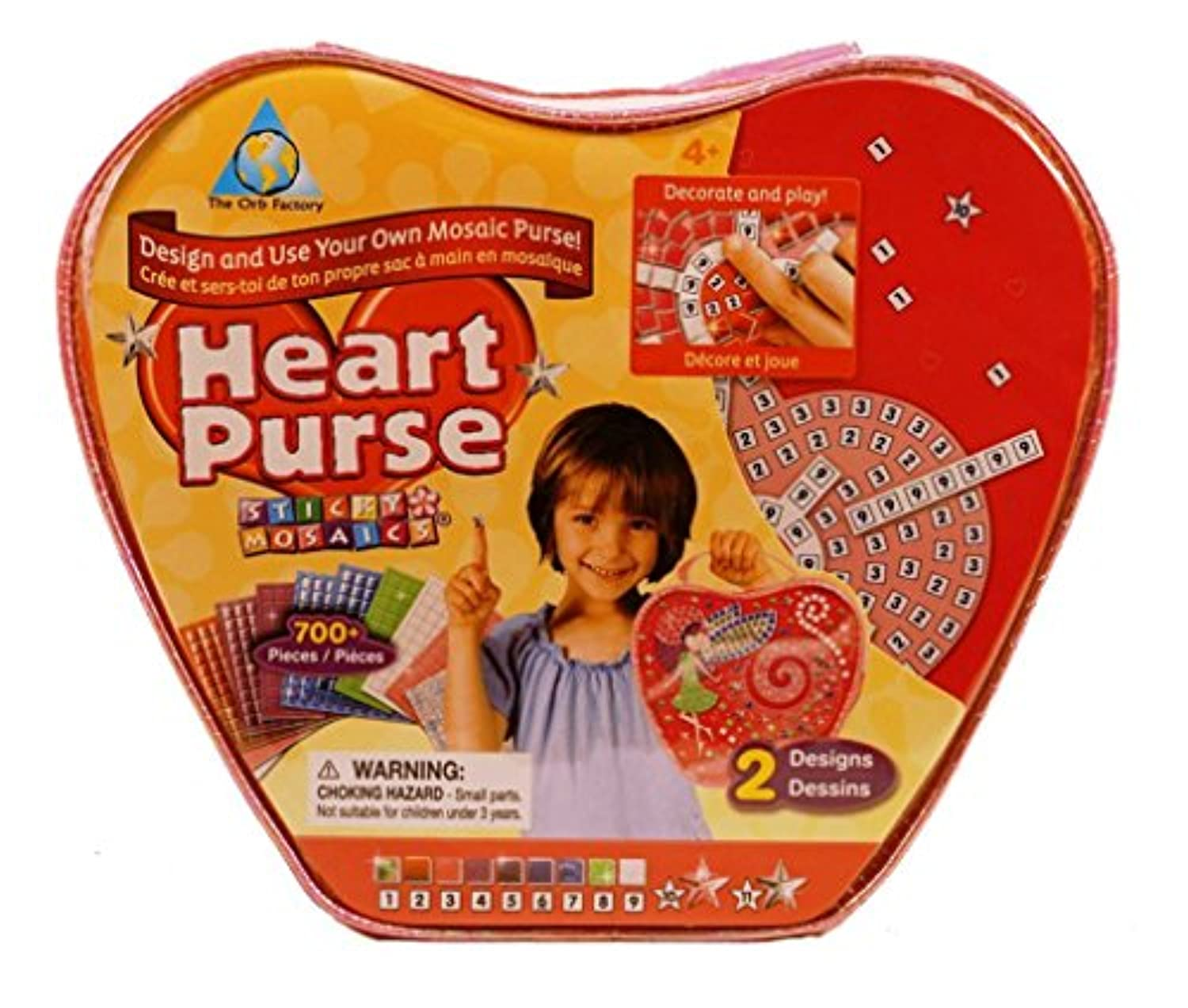 Sticky Mosaics Heart Purse by The Orb Factory (62521) [Toy]
