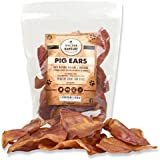 100% Natural Whole Pig Ear Dog Treat, Brutus & Barnaby's Healthy, Pure Pork Ear is Easily Digestible with no Added Colorings,